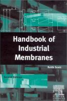 Cover image for Handbook of industrial membranes