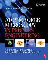 Cover image for Atomic force microscopy in process engineering : introduction to AFM for improved processes and products