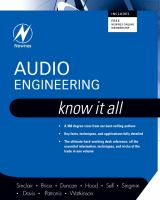 Cover image for Audio engineering : know it all