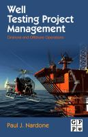 Cover image for Well testing project management : onshore and offshore operations