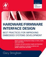 Cover image for Hardware/firmware interface design : best practices for improving embedded systems development