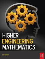 Cover image for Higher engineering mathematics