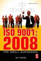 Cover image for ISO 9001-- 2008 for small businesses