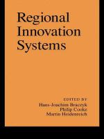 Cover image for Regional innovation systems : the role of governances in a globalized world
