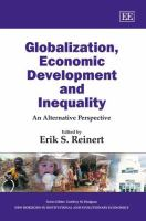 Cover image for Globalization, economic development and inequality : an alternative perspective