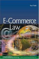 Cover image for E-commerce law