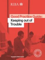 Cover image for Good practice guide : keeping out of trouble