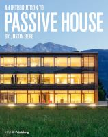Cover image for An introduction to passive house