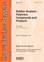 Cover image for Rubber analysis - polymers, compounds and products