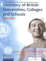 Cover image for Directory of British Universities, colleges and schools