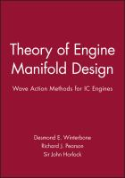 Cover image for Theory of engine manifold design : wave action methods for IC engines