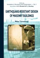 Cover image for Earthquake-resistant design of masonry buildings