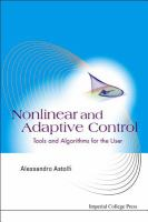 Cover image for Nonlinear and adaptive control : tools and algorithms for the user