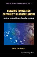 Cover image for Building innovation capability in organizations : an international cross-case perspective