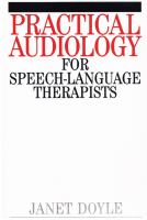 Cover image for Practical audiology for speech-language therapists
