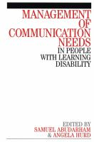 Cover image for Management of communication needs : in people with learning disability