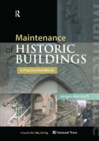 Cover image for Maintenance of historic buildings : a practical handbook