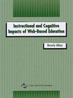 Cover image for Instructional and cognitive impacts of Web-based education
