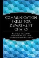 Cover image for Communication skills for department chairs