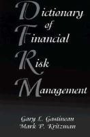 Cover image for The dictionary of financial risk management