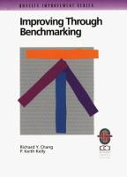 Cover image for Improving through benchmarking : a practical guide to achieving peak process performance