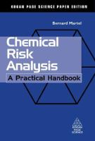 Cover image for Chemical risk analysis : a practical handbook