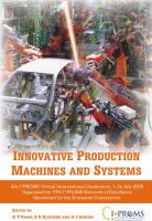 Cover image for Innovative production machines and systems : fourth I*PROMS Virtual Conference, 1st-14th July 2008