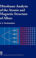 Cover image for Mossbauer analysis of the atomic and magnetic structure of alloys