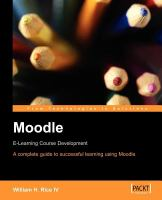 Cover image for Moodle : E-learning course development