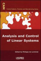 Cover image for Analysis and control of linear systems