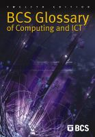 Cover image for BCS glossary of computing and ICT