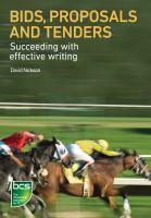 Cover image for Bids, proposals and tenders : succeeding with effective writing