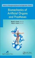 Cover image for Biomechanics of artificial organs and prostheses