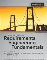 Cover image for Requirements engineering fundamentals : a study guide for the Certified Professional for Requirements Engineering exam : foundation level, IREB compliant