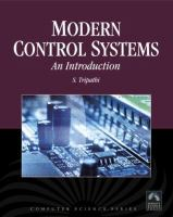 Cover image for Modern control systems : an introduction
