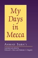 Cover image for My days in Mecca