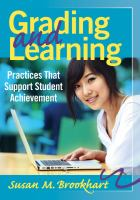Cover image for Grading and learning : practices that support student achievement