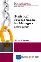 Cover image for Statistical Process Control for Managers