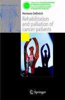 Cover image for Rehabilitation and palliation of cancer patients Patient care