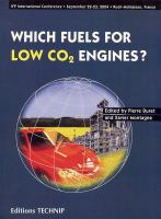 Cover image for Which fuels for low COv(2) engines? : proceedings of the International Conference held in Rueil-Malmaison, France, September, 22-23, 2004