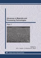 Cover image for Advances in materials and processing technologies II : selected peer reviewed papers from the International Conference on Advances in Materials and Processing Technologies (AMPT) 26-29 October 2009, Kuala Lumpur, Malaysia