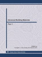 Cover image for Advanced building materials : selected, peer reviewed papers from the 2011 International conference on Civil Engineering, Architecture and Building Materials (CEABM2011), May 18-20, 2011, Haikou, China