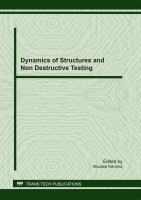 Cover image for Dynamics of the structures and non destructive testing : special topic volume with invited peer reviewed papers only