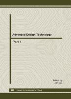 Cover image for Advanced design technology : selected papers from 2011 international conference on advanced design and manufacturing engineering (ADME 2011), 16-18 September, 2011, Guangzhou, China