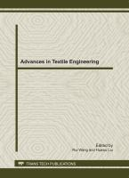 Cover image for Advances in textile engineering : selected, peer reviewed papers from the 2011 international conference on textile engineering and materials, (ICTEM 2011), 23-25 September, 2011, Tianjin, China