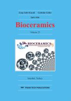 Cover image for Bioceramics 23 : selected, peer reviewed papers from the 23rd Symposium and annual meeting of International Society for Ceramics in Medicine (ISCM 2011), November 6-9 2011, Istanbul, Turkey