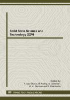 Cover image for Solid state science and technology XXVI : selected, peer reviewed papers from the 26th Regional Conference on Solid State Science and Technology, November 22-24, 2011, Seremban, Negeri Sembilan, Malaysia