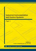 Cover image for Industrial instrumentation and control systems : selected, peer reviewed papers from the 2012 International Conference on Measurement, Instrumentation and Automation (ICMIA 2012), September 15-16, 2012, Guangzhou, China