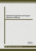 Cover image for Hydraulic equipment and support systems for mining : selected, peer reviewed papers from the first international workshop on hydraulic equipment and support systems for mining (IWHEM2012) : August 17-18, 2012, Huludao, China