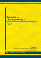 Cover image for Advances in civil engineering II : selected, peer reviewed papers from the 2nd International Conference on Civil Engineering and Transportation (ICCET 2012), October 27-28, 2012, Guilin, China